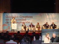 Isabel Donato, Congreso Ciudades Creativas la Cuidad de la Imaginacion Cáceres, España, 2009 junto a Jaime Lerner