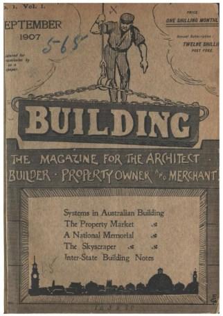 Portada de la revista Building, Septiembre 1907.