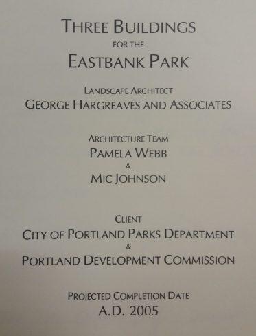 Pamela Webb, Edificios Eastbank Park