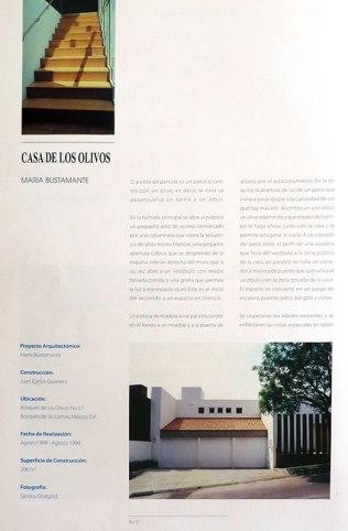 Maria Bustamante Harfush, Publicación en revista ENLACE por Casa de los Olivos, 2000.