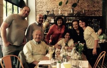 Diana Saiegh y familia.