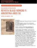 Claudia Shmidt, Revista Block nº 9. Argentina años 50