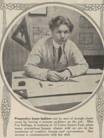 Fay Kellogg. Artículo de periódico, 1916.