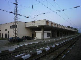 Tsvetana Ninova. Estación de trenes en Ihtiman, 1971.