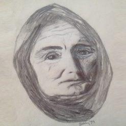Georgina Lipsey, Hungarian Peasant, lapiz sobre papel