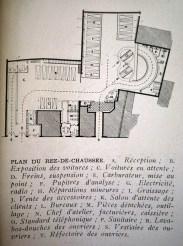 Adrienne Górska. Estación de servicio Neuilly. París en la revista L'Architecture d'Aujourd'hui. 1952. Planta baja.