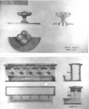 Dina Stancheva, Concurso para fuentes, detalles, 1955