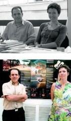 Sara de Giles Dubois. Dos fotografías con José Morales, ambos dirigen el Estudio MORALES DE GILES.