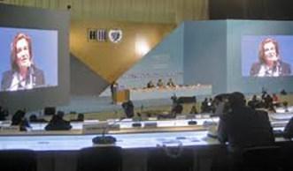 Eneida De León. Tercera Conferencia de las Naciones Unidas sobre Vivienda y Desarrollo Urbano Sostenible, Hábitat III, Quito, Ecuador, 2016.