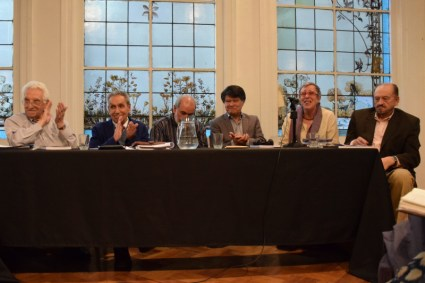 Ana Sugranyes con representantes del Colegio de Arquitectos Chile en el lanzamiento del libro sobre Políticas Urbanas en Chile