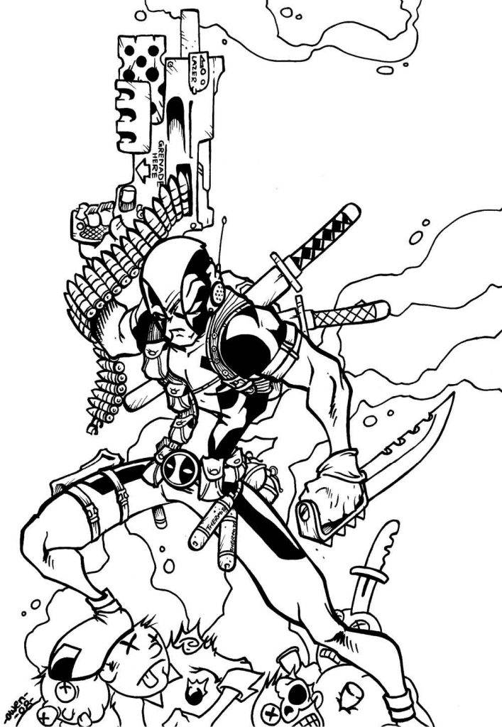 Deadpool Dibujos Para Colorear