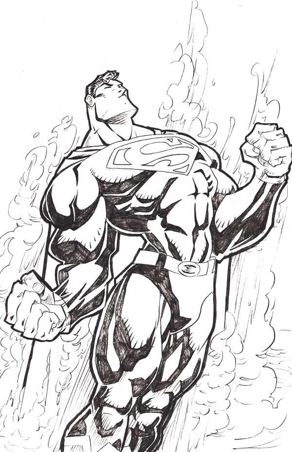 Dibujo de Superman para pintar  Dibujos Fciles