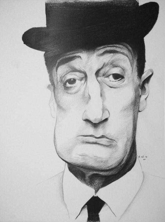 Joseph Frank con sombrero