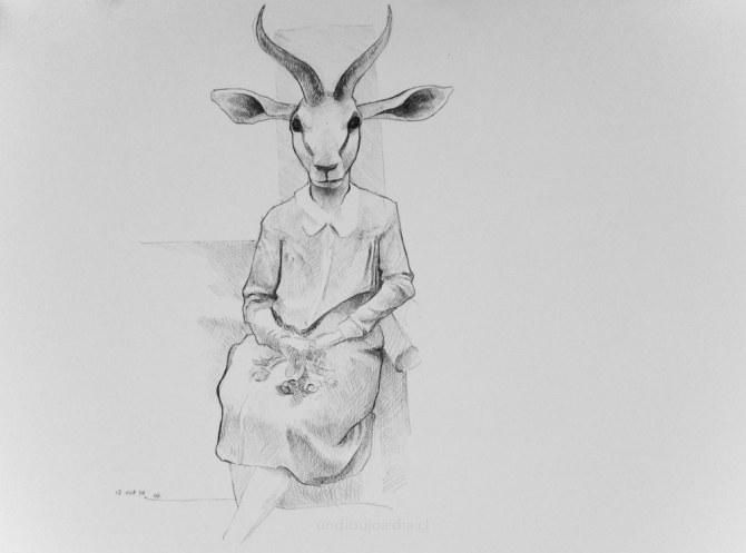 cabra sentada