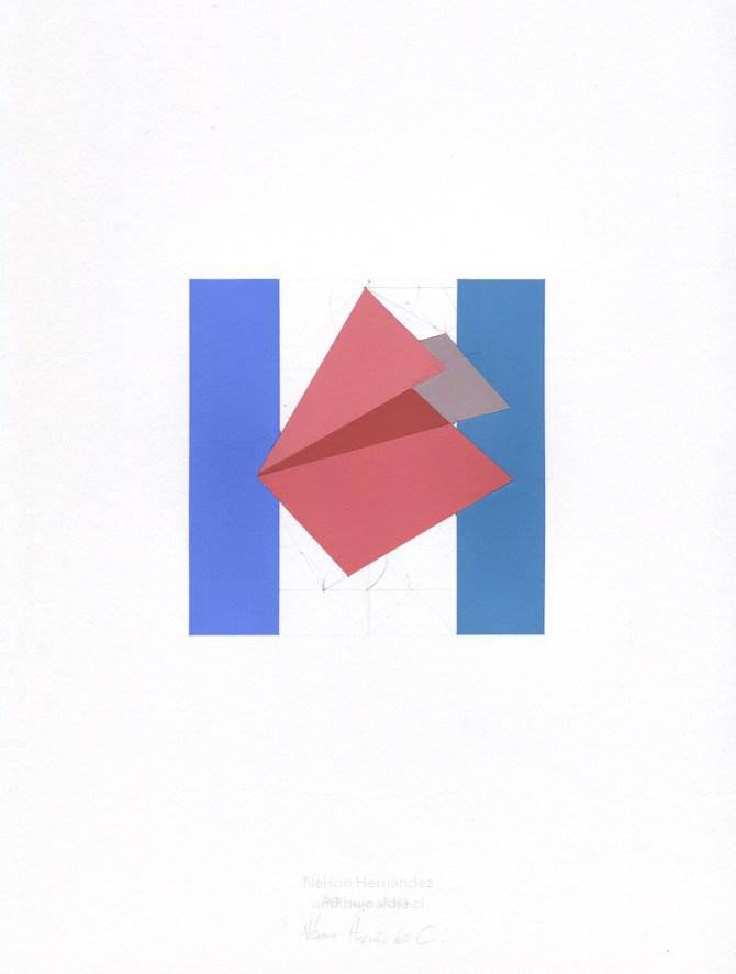 figura rosa y barras azules