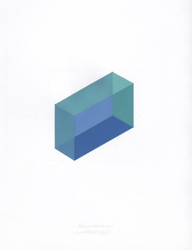 ortoedro verde y azul
