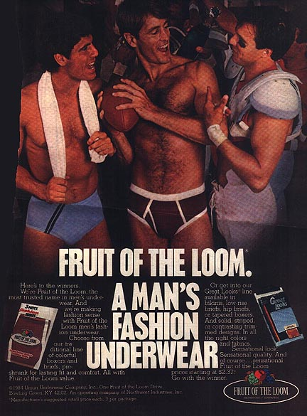 Fruit of the Loom Locker Room Ad 1984