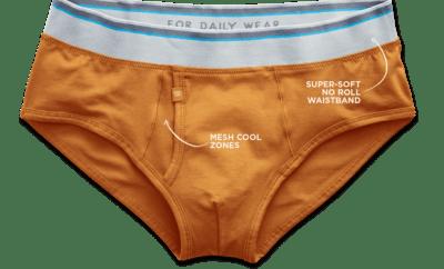 Mack Weldon Orange Briefs