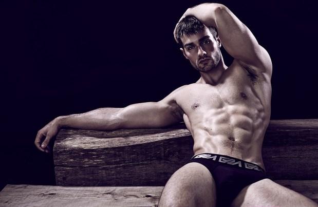 Paul Knops Garcon Model Underwear Model Black Briefs David Jaems