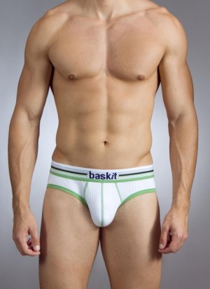 Baskit Ribbed Briefs White