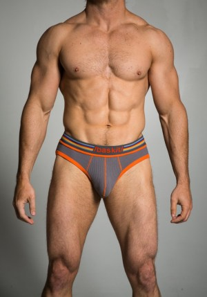 Baskit Ribbed Briefs Pewter