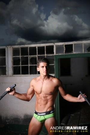 Santiago Quintero by Andres Ramirez in AussieBum Briefs