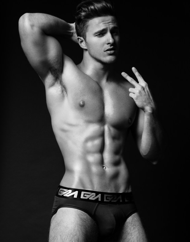 Model Thomas Keal by Fashion Photogrpaher Brian Jamie for Garcon Model Underwear sporting black brief #4