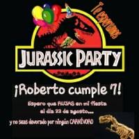 Cumpleaños temático DINOSAURIOS / JURASSIC PARTY