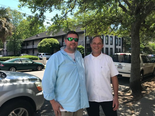 Chef Forrest Parker of Undiscovered Charleston with Bill Neal of Hominy Grill.
