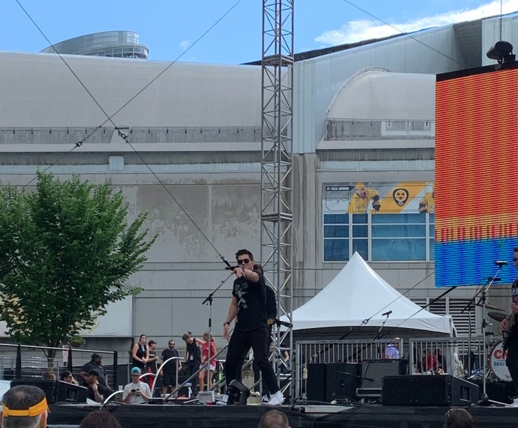 Austin Burke performing on the Chevy Breakout stage at CMA Fest 2019