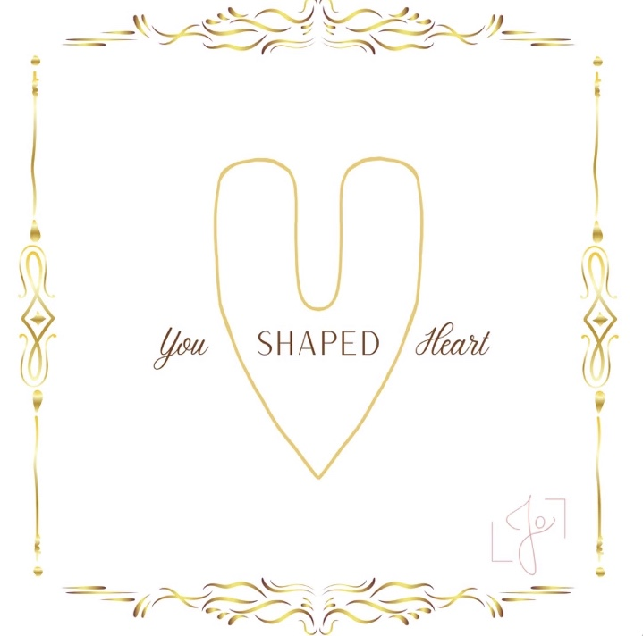 """""""You Shaped Heart"""" cover art designed by Yaeger's cousin."""