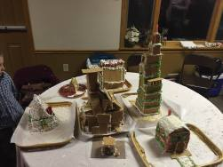 """Joe's family made what Joe can only explain as this """"giganto-family built ginger bread housing complex."""""""