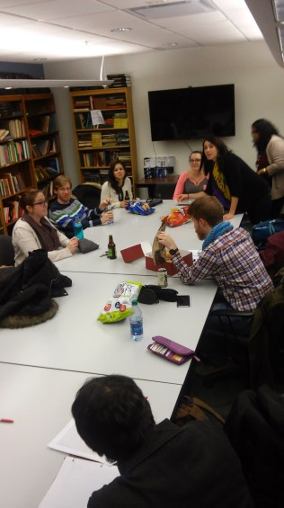 In addition to classes, food and fun also happens in the library.