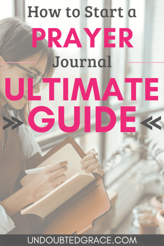 How to start a prayer journal pinnable image.