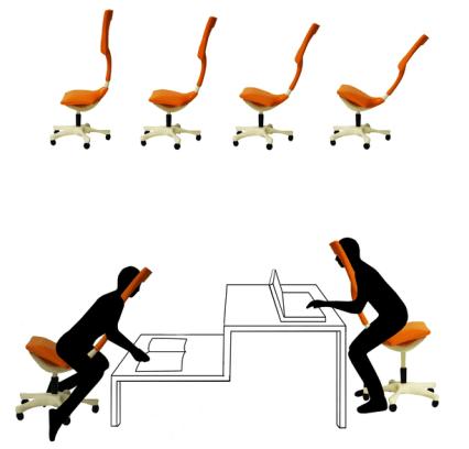 Twist Chair - ergonomischer Bürostuhl von Miray Oktem (c) mirayoktem.carbonmade.com