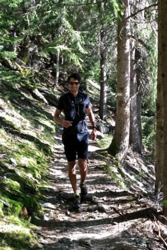 trail en foret à chamonix