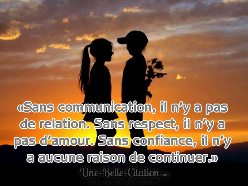 Citation Amour Confiance Respect