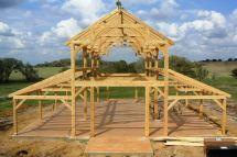 Construction 'une Maison En Bois Poteau Poutre Avec Vid