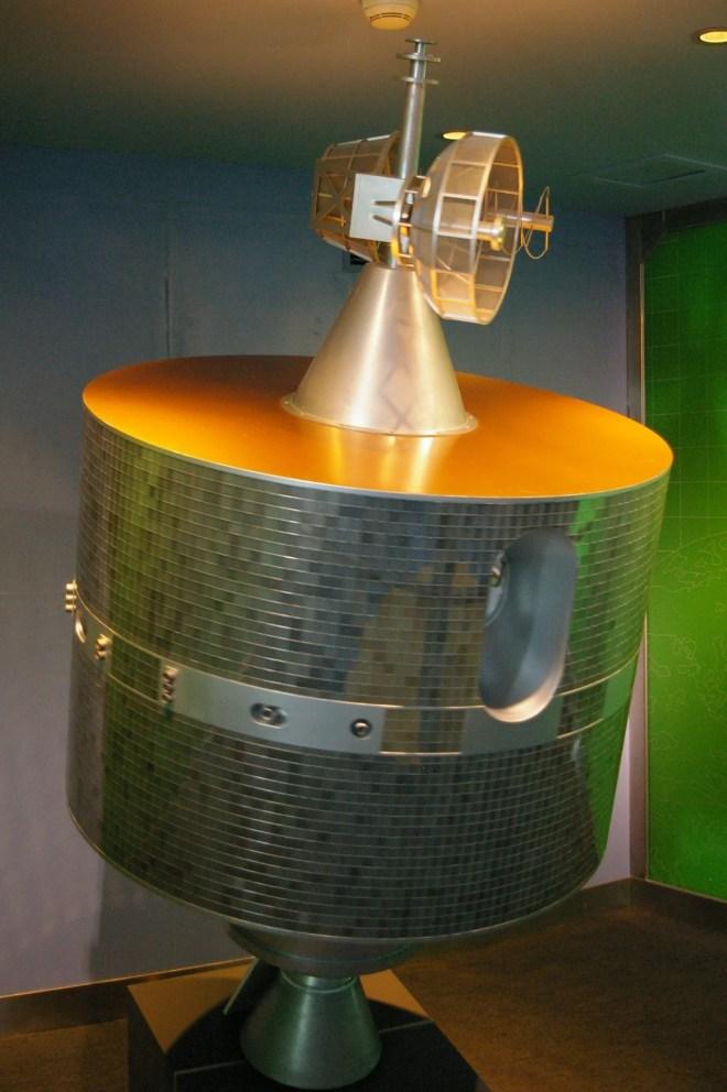 Maquette du satellite détruit par la Chine par un missile