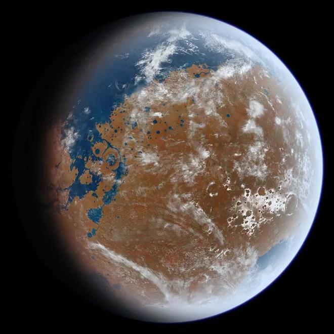 Voici ce à quoi a pu ressembler Mars avec de l'eau