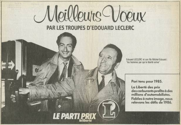 Annonce presse voeux 1986