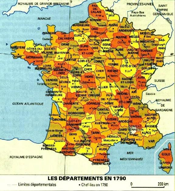 departements 1790