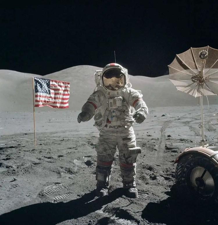 Eugene Cernan sur la lune