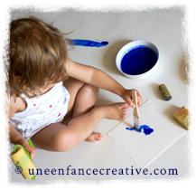Activité peinture avec les peintures naturelles Natural Earth Paint