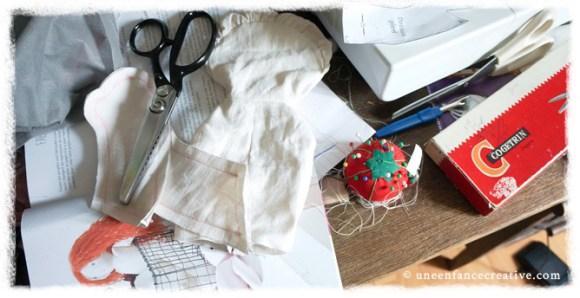 Activité couture - poupée de chiffon - assemblage