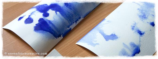 Il pleut ! Activité peinture sur papier humide