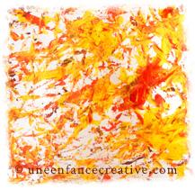 Peindre avec des marrons