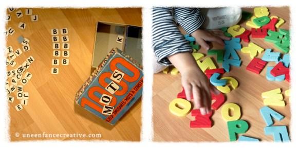Activité tri lettre alphabet