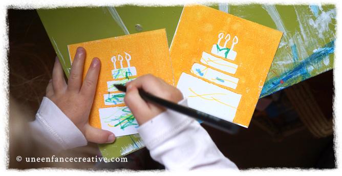 Carte d'invitation anniversaire enfant