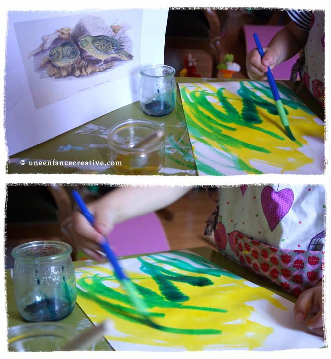 Peindre kakapo à l'encre